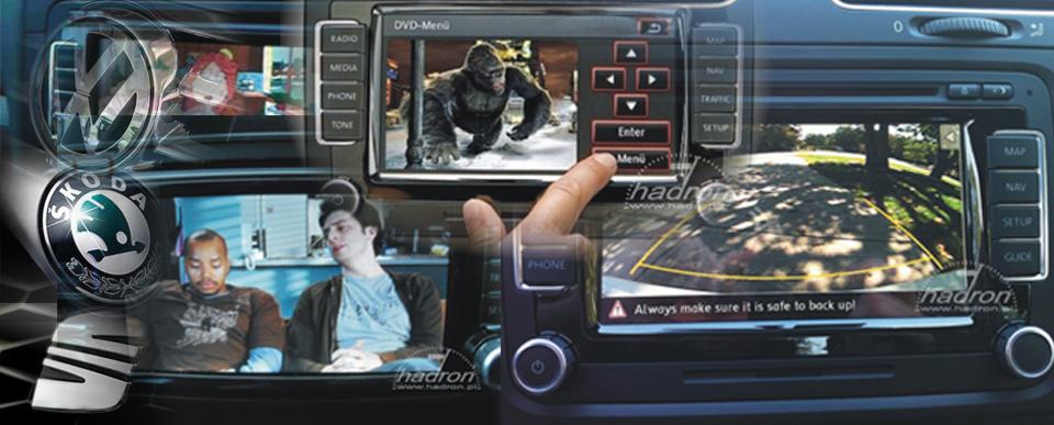 Multimedia - moduł AV do radia RNS 510 telewizja w VW, Skoda, Seat