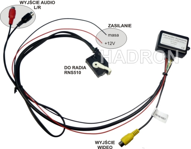 do pojazdów grupy VAG polecamy moduł audio-video AV-OUT CAN
