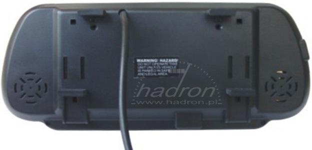 Noxon o przekątnej 7 cali i rozdzielczości QVGA 480×234 px obsługuje standardy PAL i NTSC