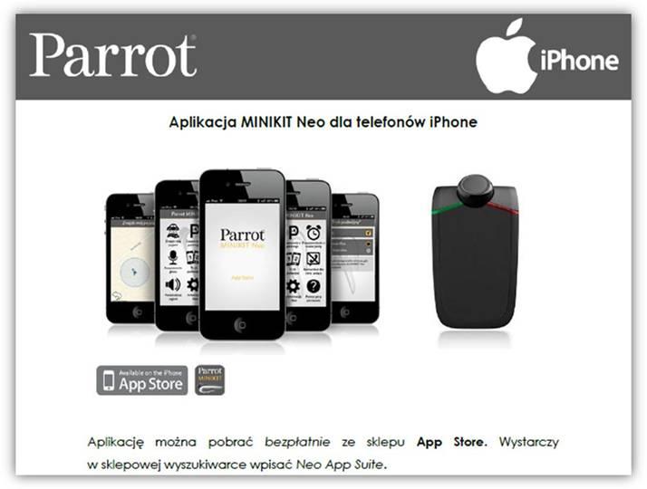 Parrot MiniKit NEO dla iPhone