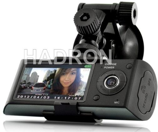 rejestrator trasy z dwiema kamerami