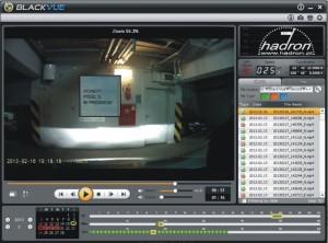 Podgląd w rozdzielczości HD z kamery BlackVue DR380G