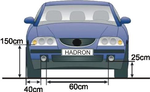 pozycja świateł do jazdy dziennej - wg przepisów