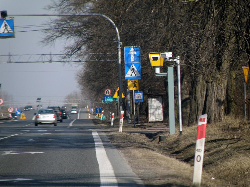Fotoradar w miejscowości Pamiątka DK7