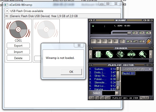XCarLink MP3 Organizer - transfer plików MP3