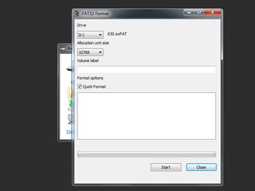 Formatowanie karty pamięci SDXC 64 GB