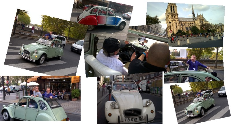 Jazda Citroenami C2 po Paryżu
