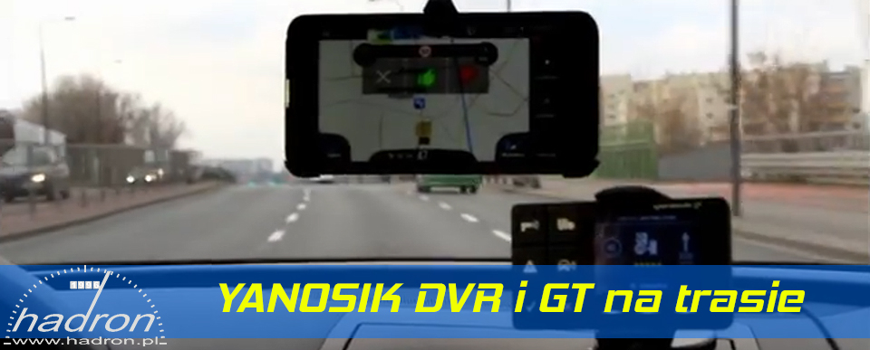 Asystent kierowcy Yanosik DVR i GT na trasie