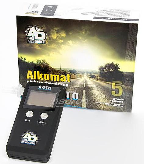 Alkomat AlcoDigital A110 - zestaw