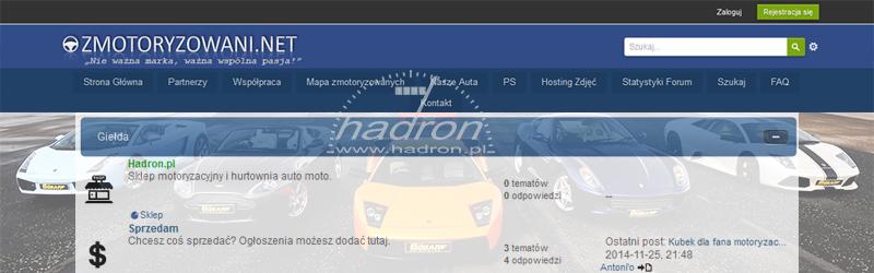 Współpraca Hadron z forum zmotoryzowani.net