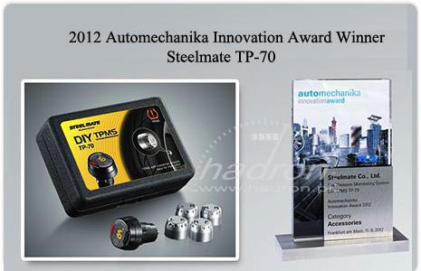 Czujniki ciśnienia Steelmate TP-70 - innowacja roku 2012