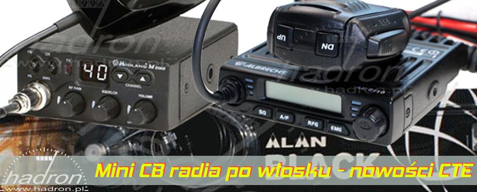 Mini CB radia po włosku - nowości CTE