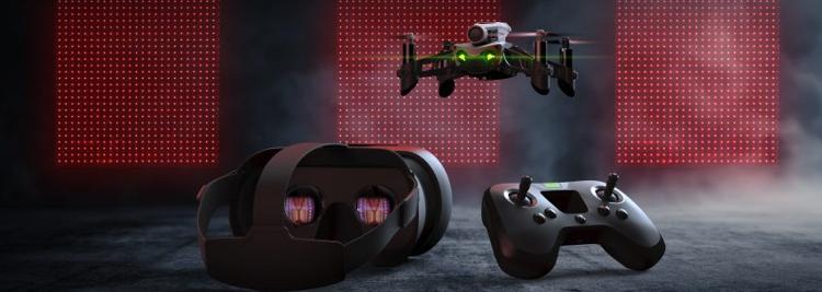 Dron-wyścigowy-Parrot-Mambo-gogle-VR-pad-kontroler