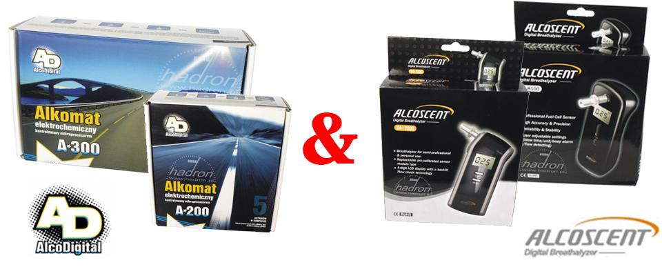 Alkomaty AlcoDigital i AlcoScent