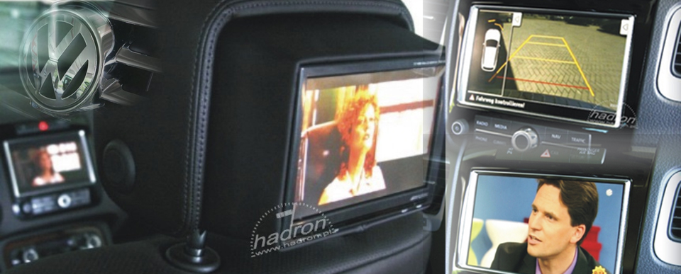 Multimedia - moduł AV do radia RNS 850 - telewizja w VW Touareg