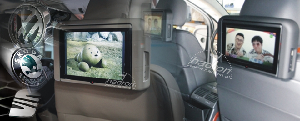 Multimedia - moduł AV do radia RNS 510 telewizja w zagłówkach VW, Skoda, Seat