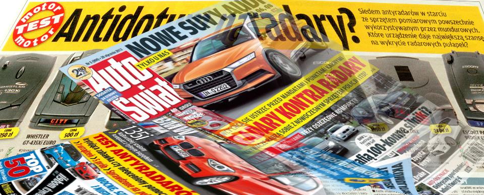 Hadron w mediach AutoŚwiat 5-2013 Motor 5-2013 Antyradary