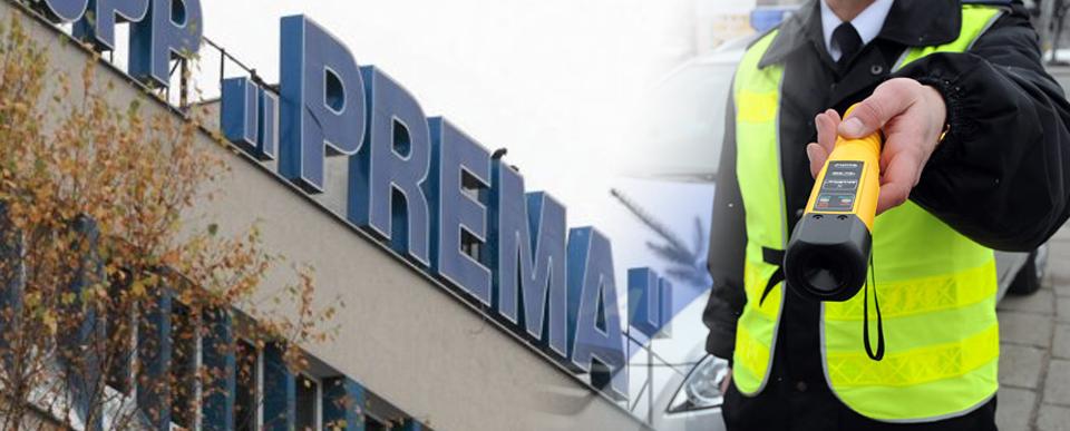 Kontrola trzeźwości alkomatem policyjnym Kielce CPP Prema SA