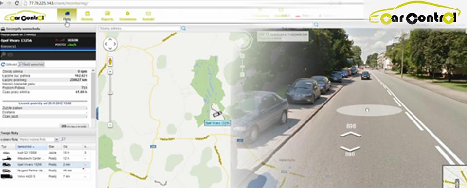 Monitoring pojazdów GPS CarControl po faceliftingu
