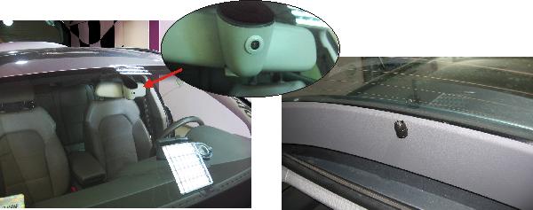dyskretnie zamontowana kamera DVR do nagrywania postojowego