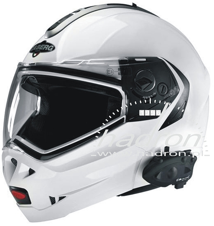 "Kask ""uzbrojony"" w interkom Midland BT Next Twin"