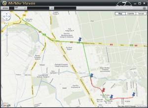 BlackVue - podgląd GPS na mapie Google