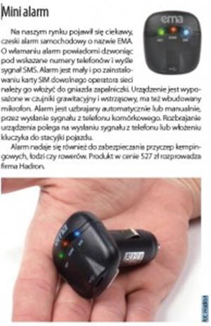 Mini alarm GSM EMA z powiadomieniem na telefon