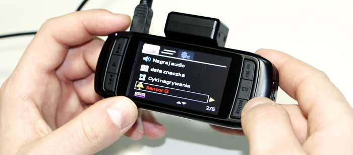 Rejestrator jazdy z ekranem LCD DOD LS430W