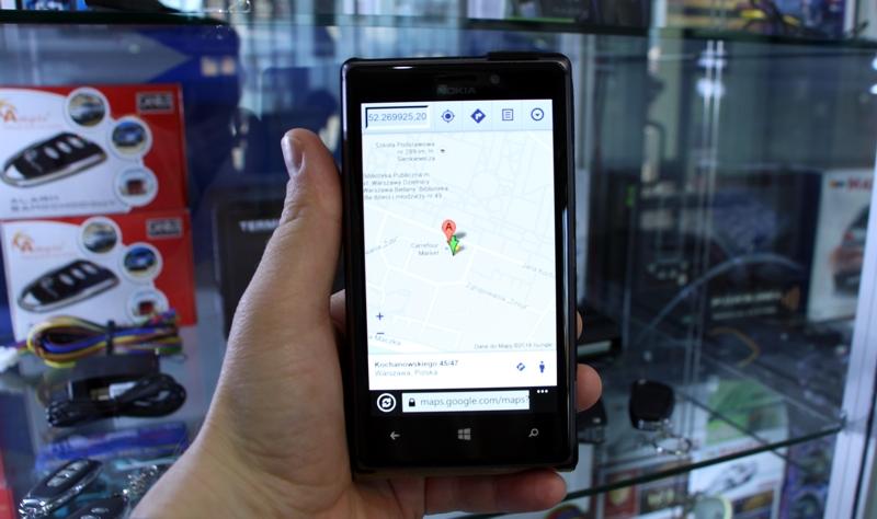 Powiadomienie SMS z lokalizacją pojazdu