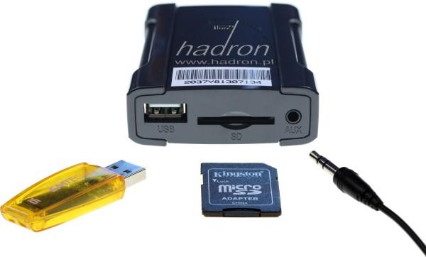 Emulator zmieniarki odtwarza MP3 z pendrive'a, karty SD i np. smartfona