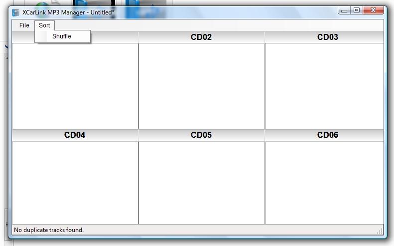 XCarLink MP3 Manager - przypadkowa kolejność odtwarzania
