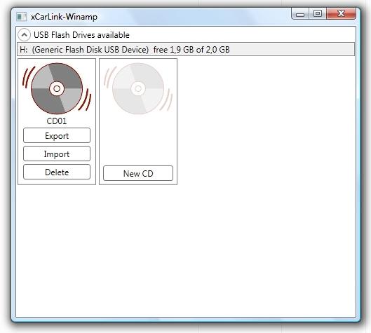 XCarLink MP3 Organizer  tworzenie emulowanych CD
