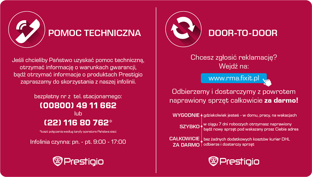 Prestigio - telefoniczne Centrum Obsługi Klienta