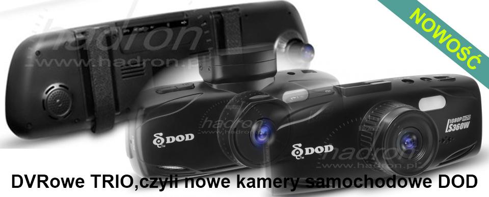 DVRowe Trio, czyli nowe kamery samochodowe DOD