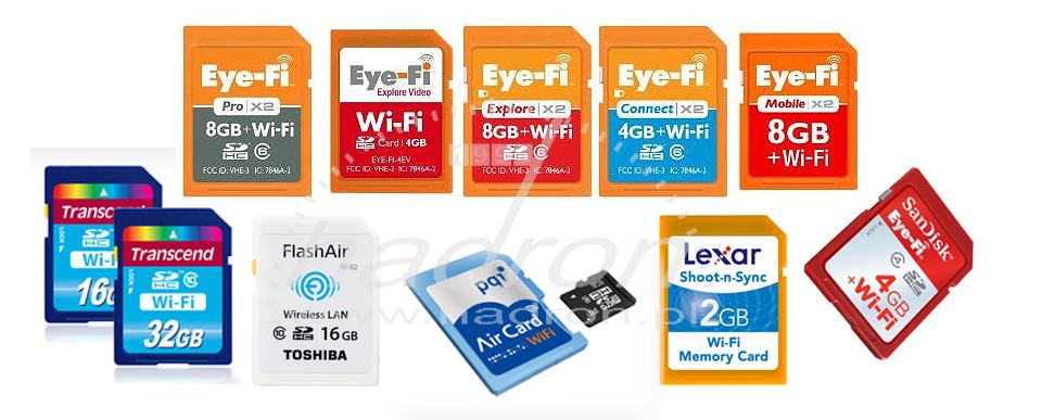 Karty pamięci SD z Wi-Fi