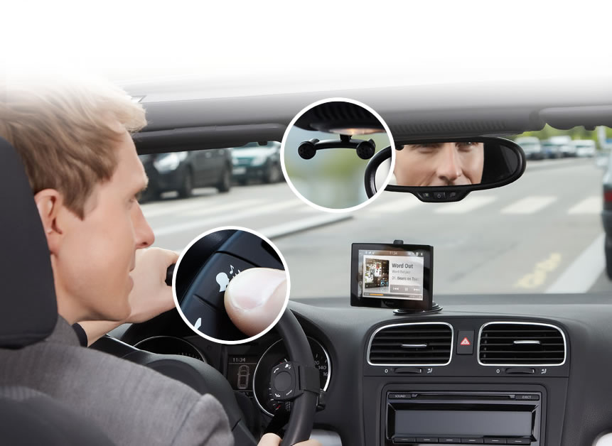 Parrot Asteroid Tablet w samochodzie