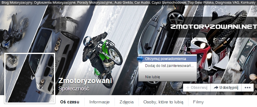 Forum zmotoryzowani.net na Facebooku