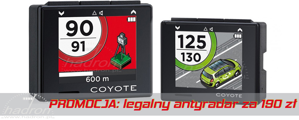 Promocja na legalny antyradar Coyote Pocket