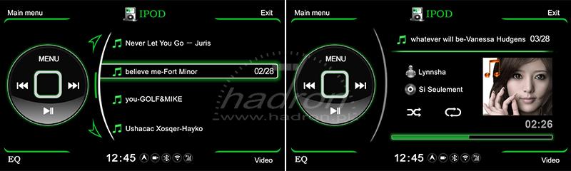 Stacja multimedialna NVOX - obsługa iPod