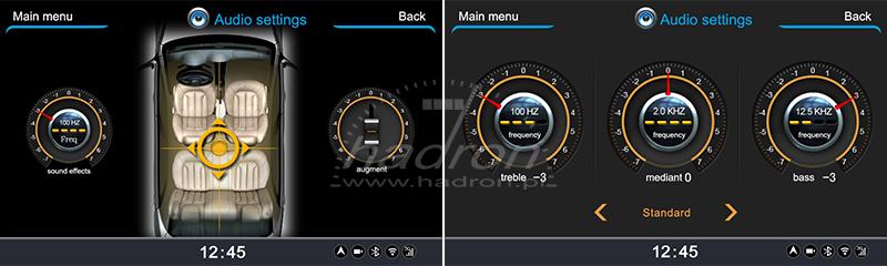 Stacja multimedialna NVOX - ustawienia audio