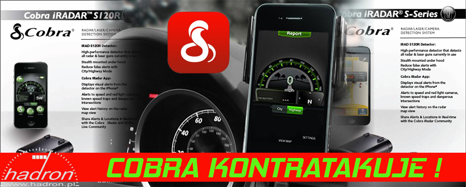 Antyradary Cobra Snooper iRadar S