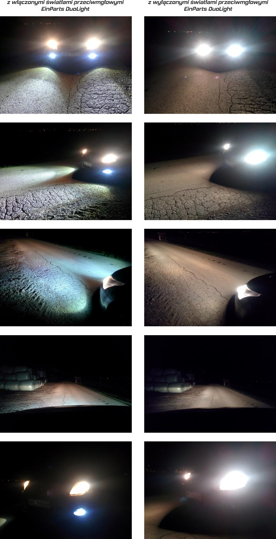 Prezentacja jakości świecenie świateł DuoLight
