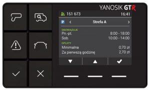 komunikator Yanosik GT-R tryb parkingowy