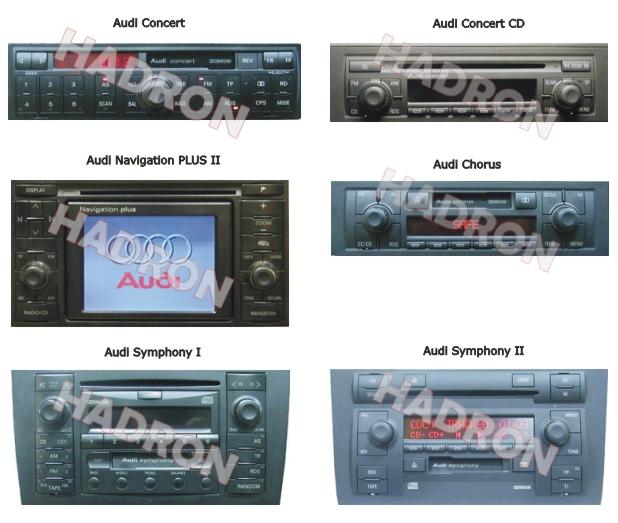 USB SD AUX MP3 Audi 8-Pol Navi Plus Radio Adapter
